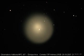 Foto cortesía del observatorio Vallbona MPC J67