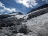 Bajando por el glaciar.