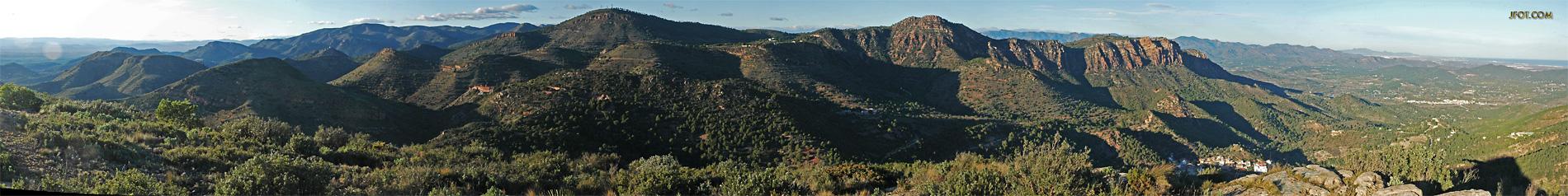 Alto del Pino desde la muela de Segart