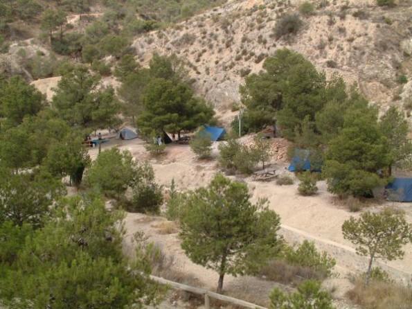 Zona acampada de San Cayetano