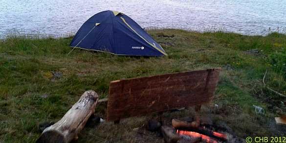 Acampada libre en una isla escocesa por Carlos H.