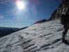 En la parte alta del glaciar.
